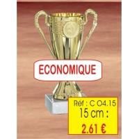 Trophée : Réf. CO4 - 15 cm