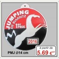 Plaque métal réf : PMJ (ø 14 cm)