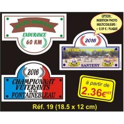 Plaque PVC Réf. 19