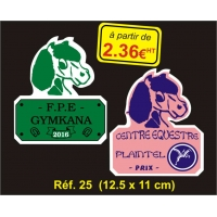 Plaque PVC Réf. 25