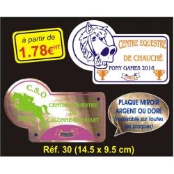 Plaque PVC Réf. 30