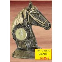 Trophée resine ref 24583 23 cm