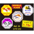 PLAQUE PVC REF 35  (12 CM)