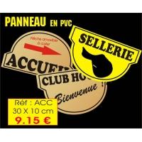 Plaque d'ACCUEIL OU CLUB HOUSE