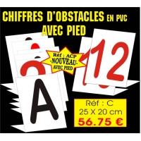 Réf. AC - Chiffres obstacles AVEC PIED