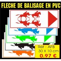 Réf. AFB - Fléchage de balisage reversible PVC (30x10cm)