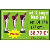 DT17R  LOT DE 12 COUPES  17 cm IDENTIQUES