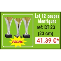 DT23  LOT DE 12 COUPES  23 cm IDENTIQUES