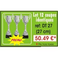 DT27 LOT DE 12 COUPES 27 cm IDENTIQUES