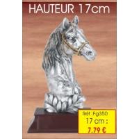 Trophée TETE Cheval  : Réf. FG350 - 17 cm