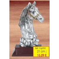 Trophée TETE Cheval  : Réf.FG350- 21 cm