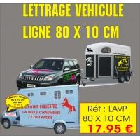 Lettrage véhicule LA LIGNE (80 x 10 cm)