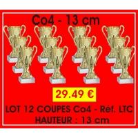 Réf. LTC - LOT DE 12 COUPES CO4 hauteur 13 cm