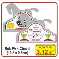 Plaque Alu numérique Cheval- Réf PA4