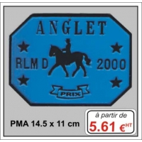 Plaque métal réf : PMA (14,5 x 11 cm)