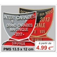 Plaque métal réf : PMC (12 x 12 cm)