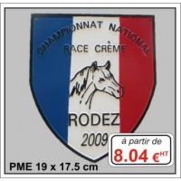 Plaque métal réf : PME (19 x 17,5 cm)