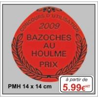 Plaque métal réf : PMH (14 x 14 cm)