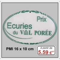 Plaque métal réf : PMI (16 x 10 cm)