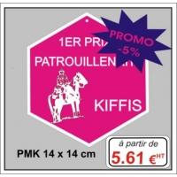 Plaque métal réf : PMK (14 x 14 cm)
