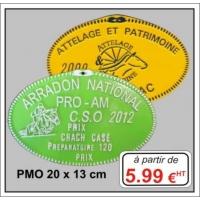 Plaque métal réf : PMO (20 x 13 cm)