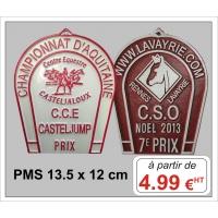 Plaque métal réf : PMS (13,5 x 12 cm)