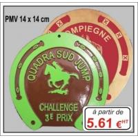 Plaque métal réf : PMV (14 x 14 cm)