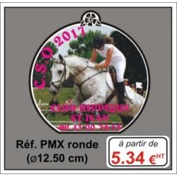 Plaque métal num Réf. PMX diam : 12,5cm