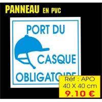 Réf. APO - Panneau Port du casque ( 40 x 40 cm)