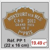 Plaque Prestige relief  - Réf PP1