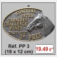 Plaque Prestige relief - Réf PP3