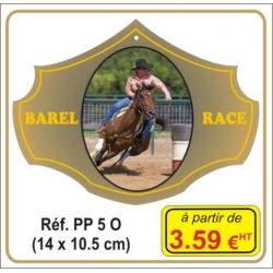 Plaque prestige alu or - Réf. PP5O