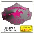 Plaque prestige alu cuivré/argent - Réf. PP5A