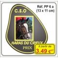 Plaque prestige alu cuivré/argent - Réf. PP6A