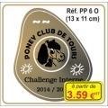 Plaque prestige alu or - PP6O