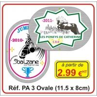 Plaque Alu numérique Ovale - Réf PA3