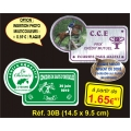 Plaque PVC Réf. 30B
